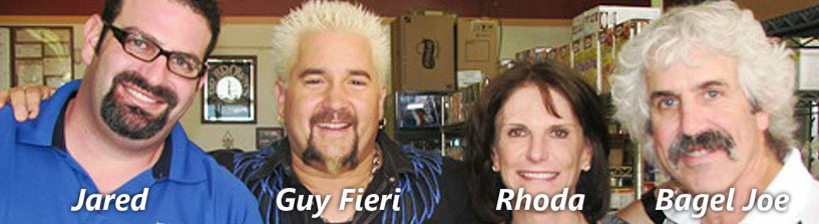 Diners Drive Ins and Dives at the Bagel Deli