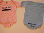 Kid's onesie with bagelette DOOTY in pink and blue - $12.95