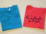 Women's tees in blue and pink - $11.95