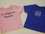 Kid's bagelette tees in blue and pink - $11.95