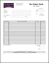 order forms the bagel deli and restaurant